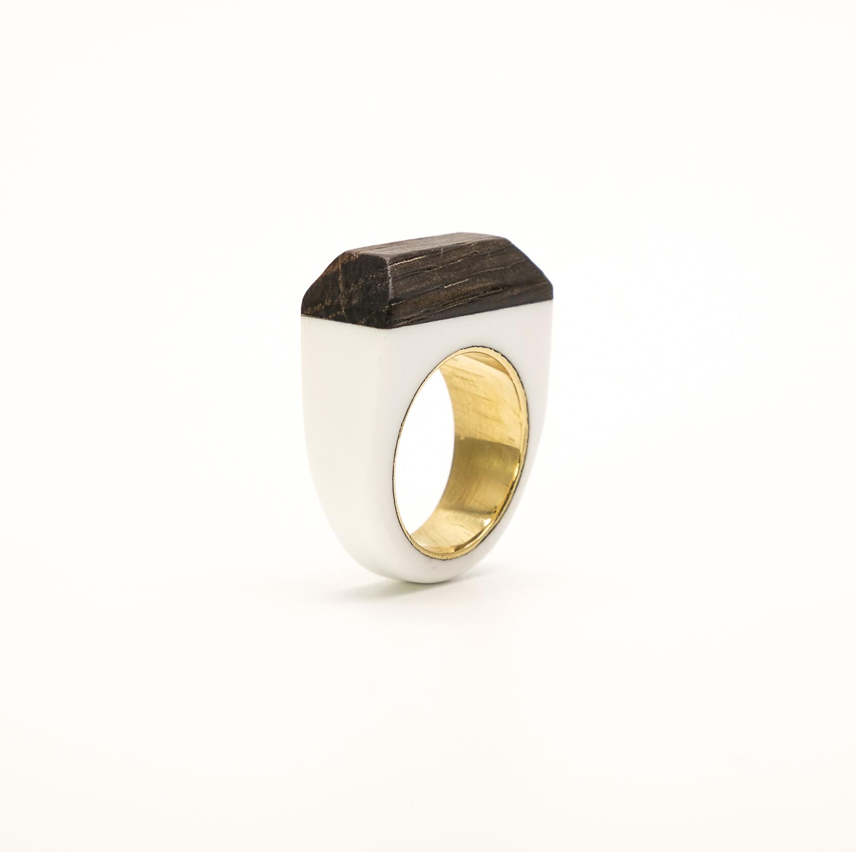Simone Frabboni woodresin ring