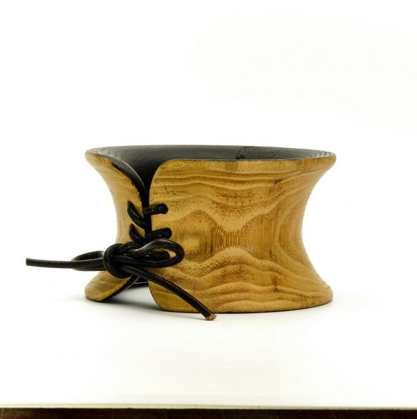 Contemporary jewelry wood bangle