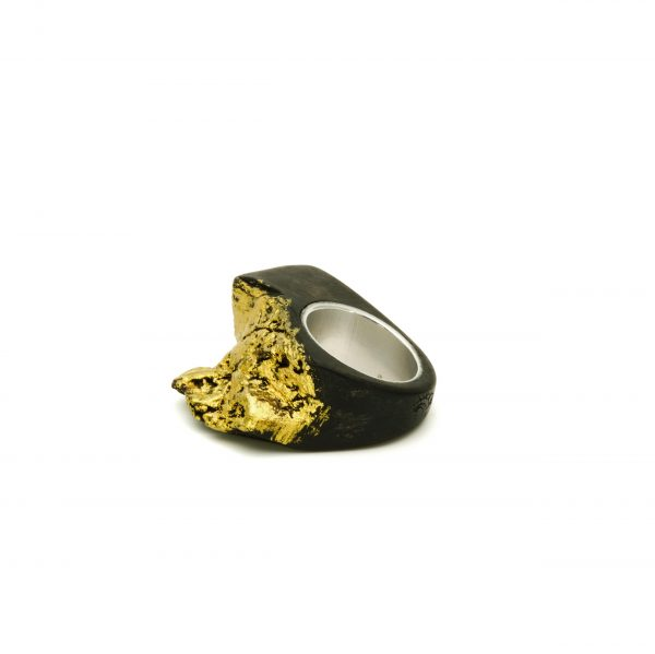 Contemporary jewewellery wooden ring_12