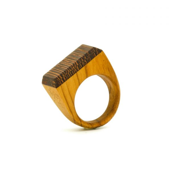 Contemporary jewewellery wooden ring_16