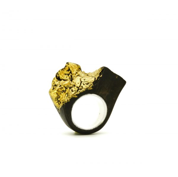 Contemporary jewewellery wooden ring_9
