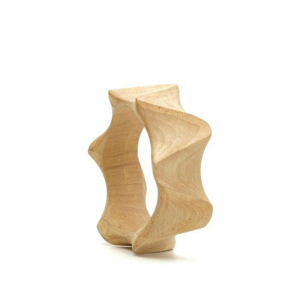 """Sincronie"" wooden bangle"
