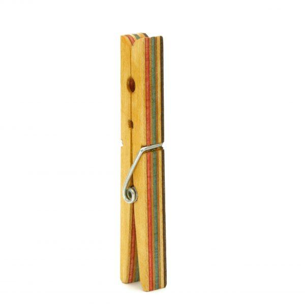Skateboard wood brooch_1