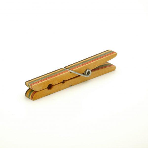 Skateboard wood brooch