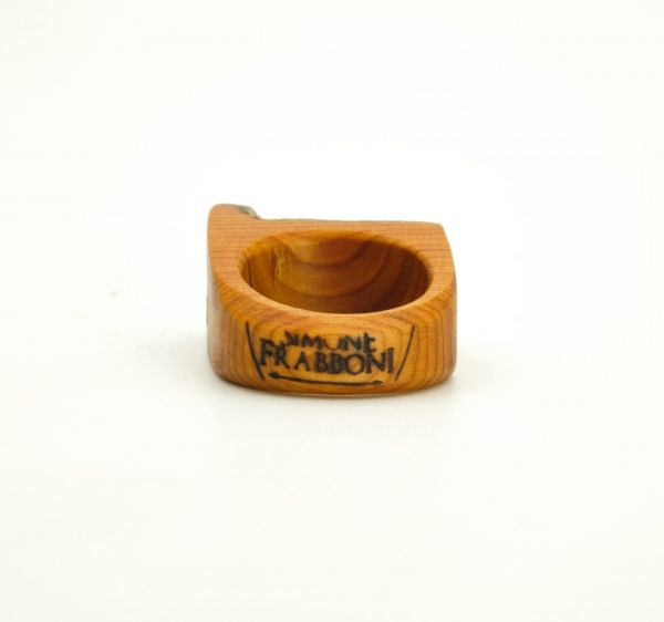 Yew wood and gold ring