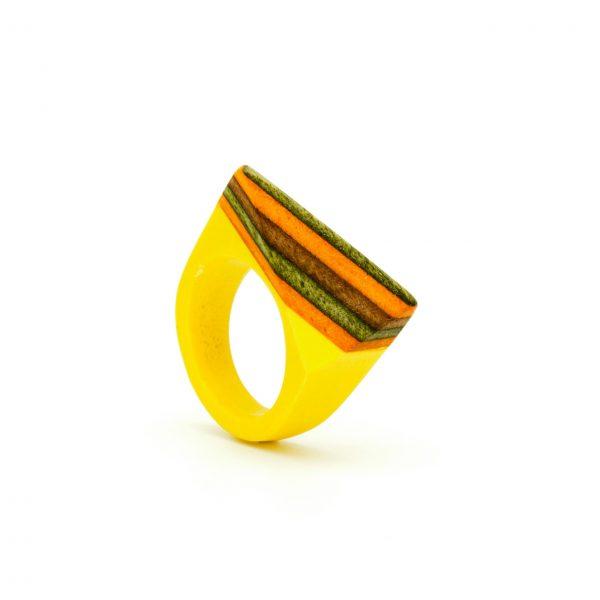 Resin Skate Ring Yellow