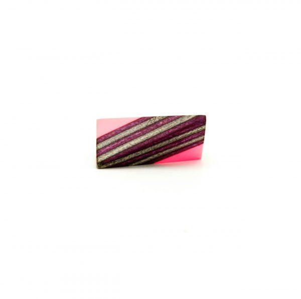 Pink violet resin wood ring_3