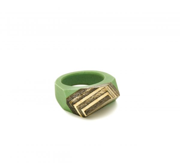 Skateboard resin ring green