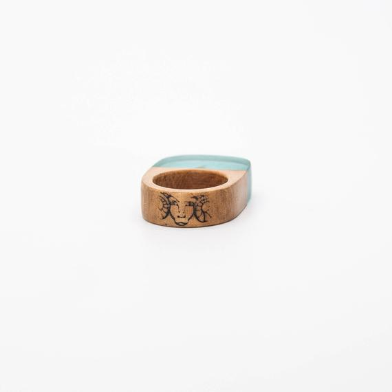 Resin and wood ring
