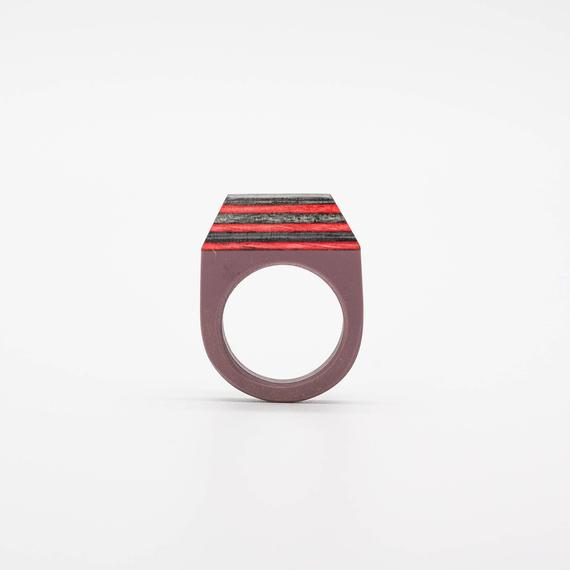 Resin and wood Ring  SIZE 10 US