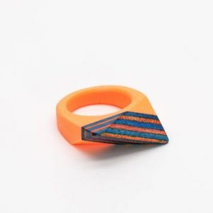 skateboard wood ring and resin