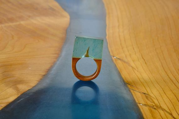 Resin and wooden ring
