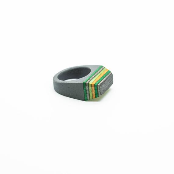 Skateboard wood Ring