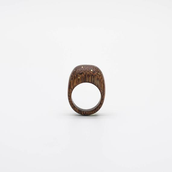 Wood and brass Ring – SIZE 7.5 US