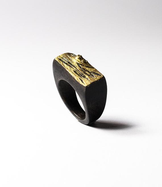 Wood ring SIZE 9 1/2 US