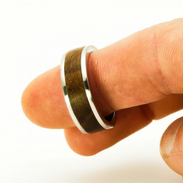 Bog oak Wedding wood rings_4