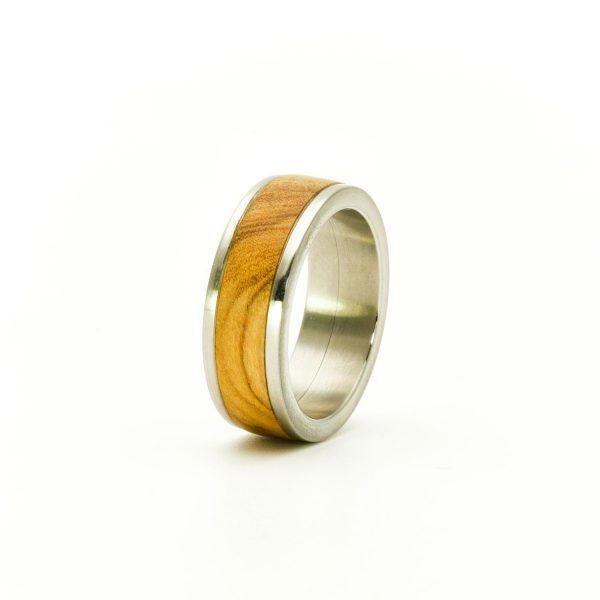 Olive wood wedding rings