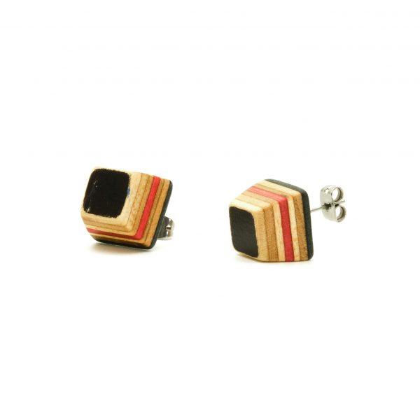 Skateboard wood earrings