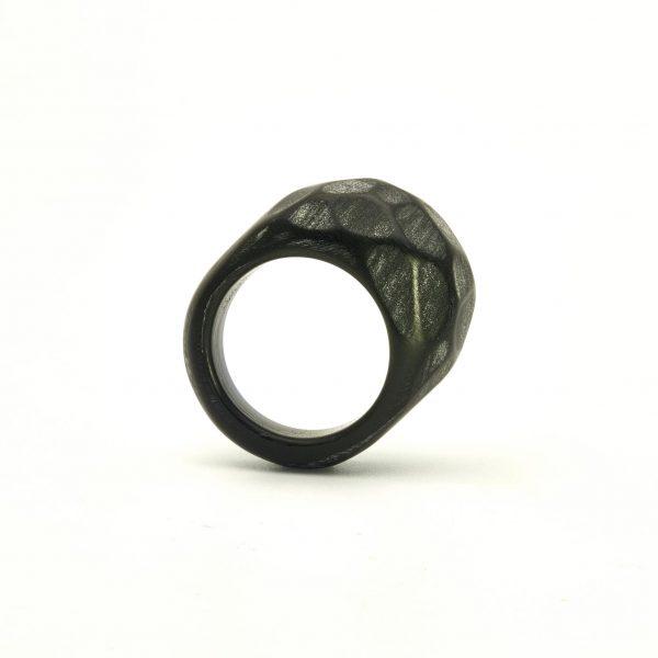 Black acrylic resin ring3