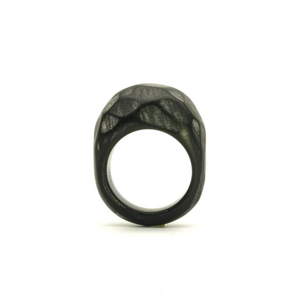 Black acrylic resin ring4